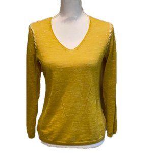 Sweaters - SOL Alpaca Linen Sweater Yellow Weave Lightweight